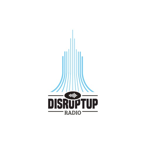 Vintage logo concet for DisruptUp radio