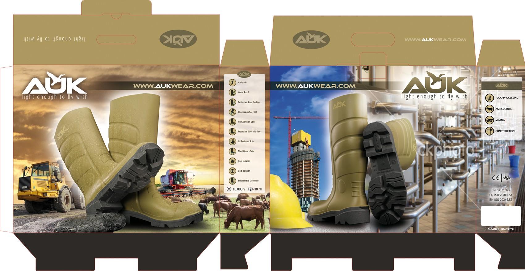 carton design for Auk Boot