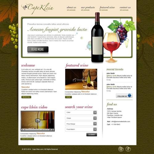Create the next website design for Cape Klein
