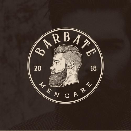 Create a cool logo design for new beard care company / Barbate