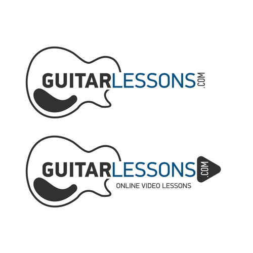 Logo for Online Guitar Lessons.