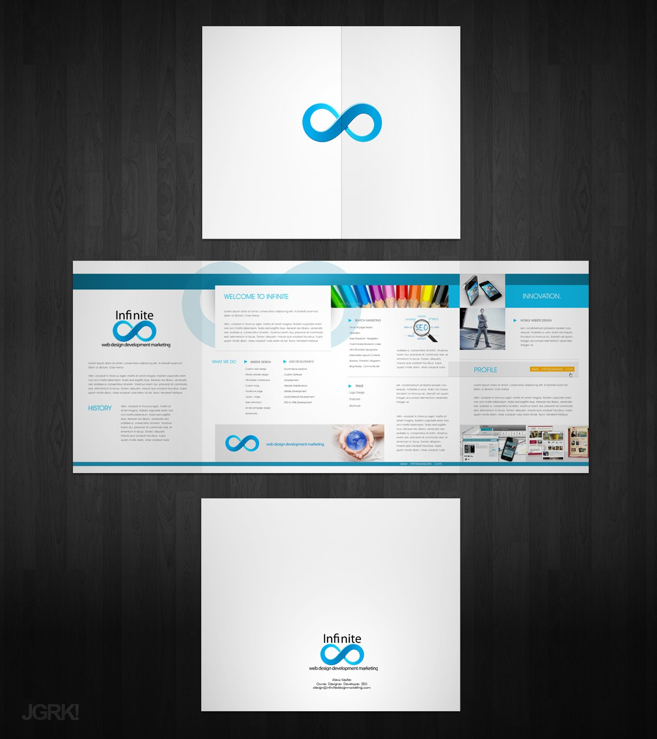 Help Infinite Wesite Design & Internet Marketing with a new print or packaging design