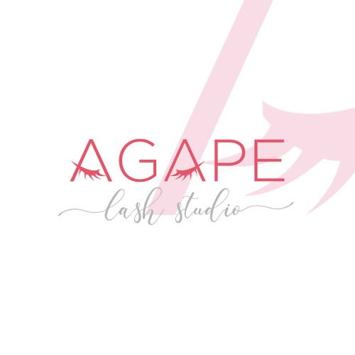 logo concept for AGAPE lash studio