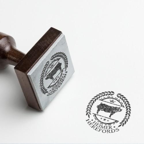 """Logo concept for """"Heimer Herefords"""""""