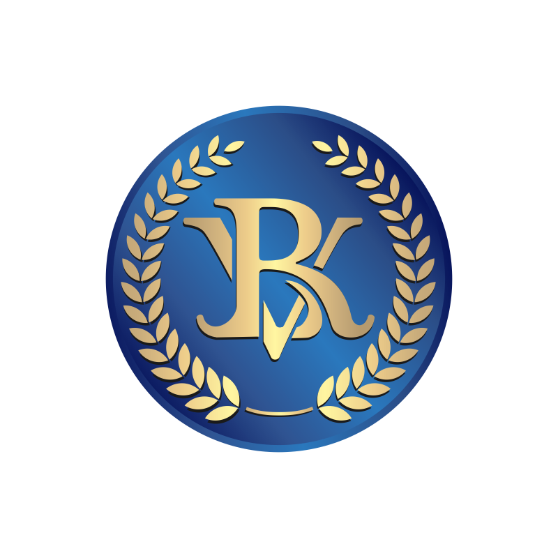Create a classy yet refine, clean, simple yet powerful logo for BVR initials in Gold!!!