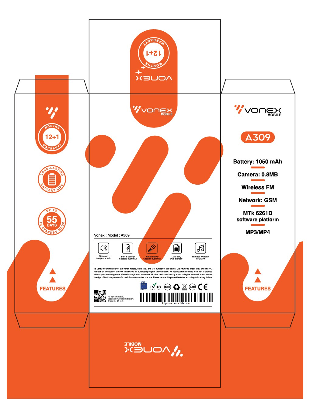 Package for Vonex phone