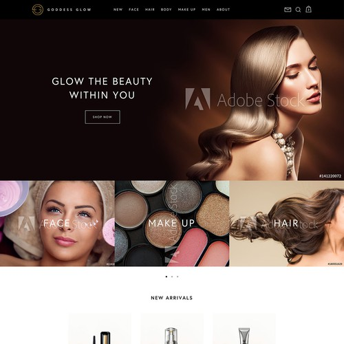Website design for Goddess Glow