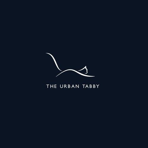 The urban tabby, cat furniture logo design