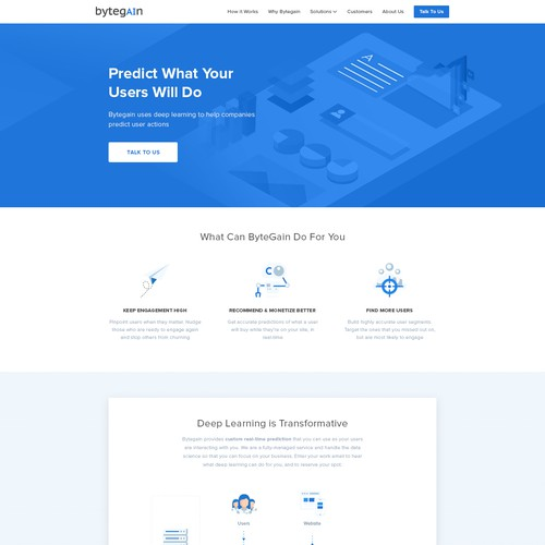Clean, Helpful, Professional look Landing page for AI startup