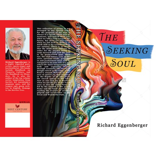 Soulful book cover design for poetry book