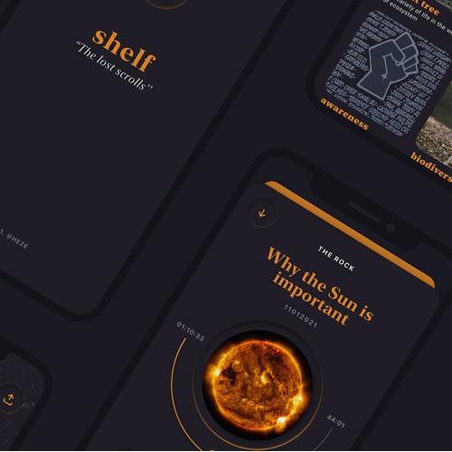 shelf - 'the lost scrolls'