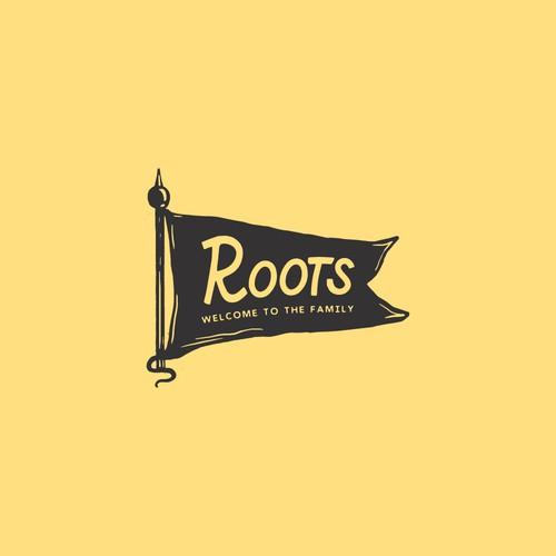 Roots Brand Flag Logo