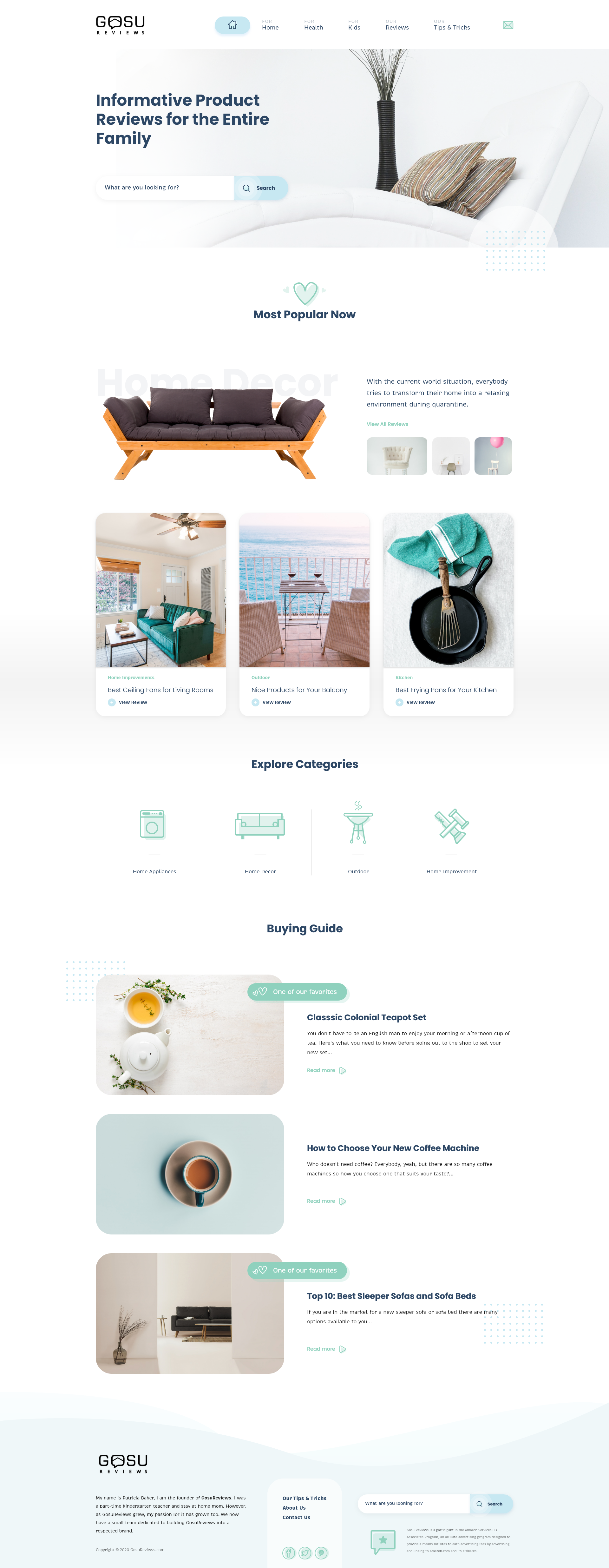 Creative Page Design For Home Reviews Company