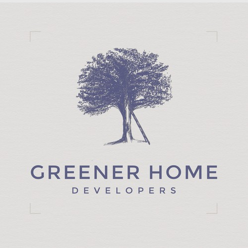 Hand drawn mark for a home-building construction firm