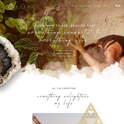 Feed Your Spirit - creative, warm, touching web design