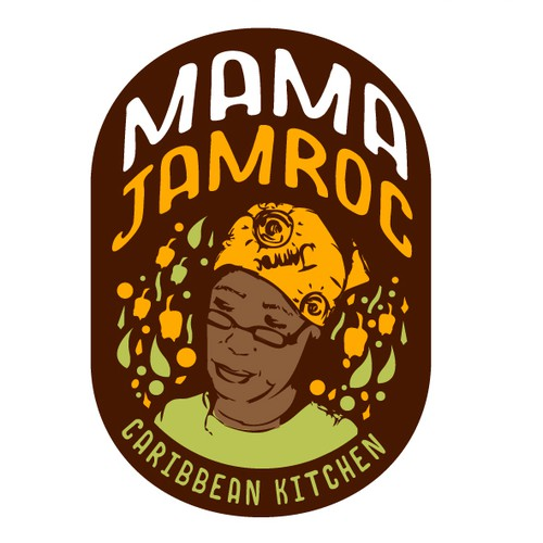 Playful logo for Caribbean sauces
