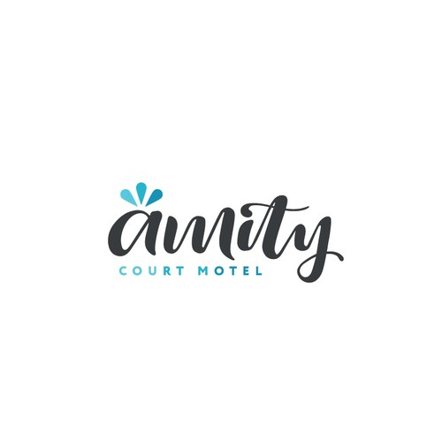Calligraphy Logo for Amity Court Motel