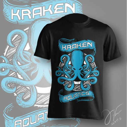 Tshirt Design for Kraken aquatics