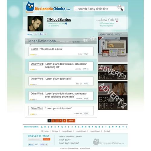 New website design wanted for DiccionarioChimbo.com