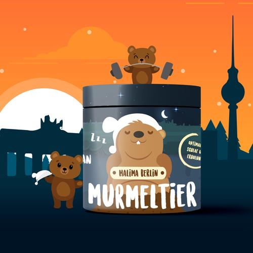 Malima Berlin Sleeping Supplement Label Design