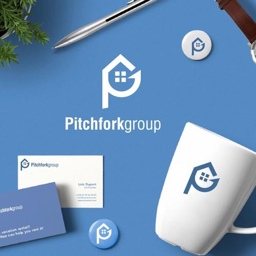 pitchforkgroup logo design