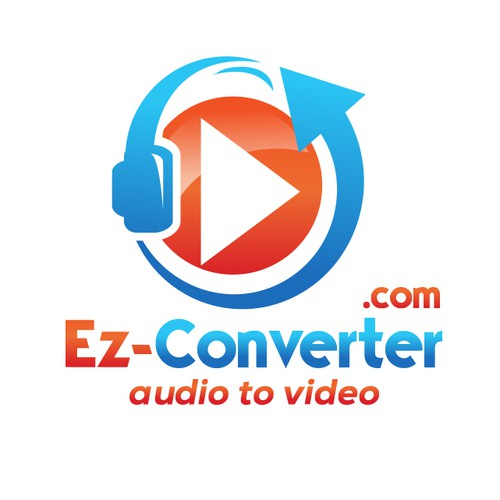 playful logo for audio to video converter