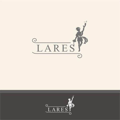 Logo featuring Roman god Lares