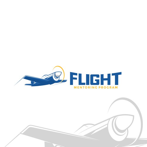 Plane logo for mentoring program