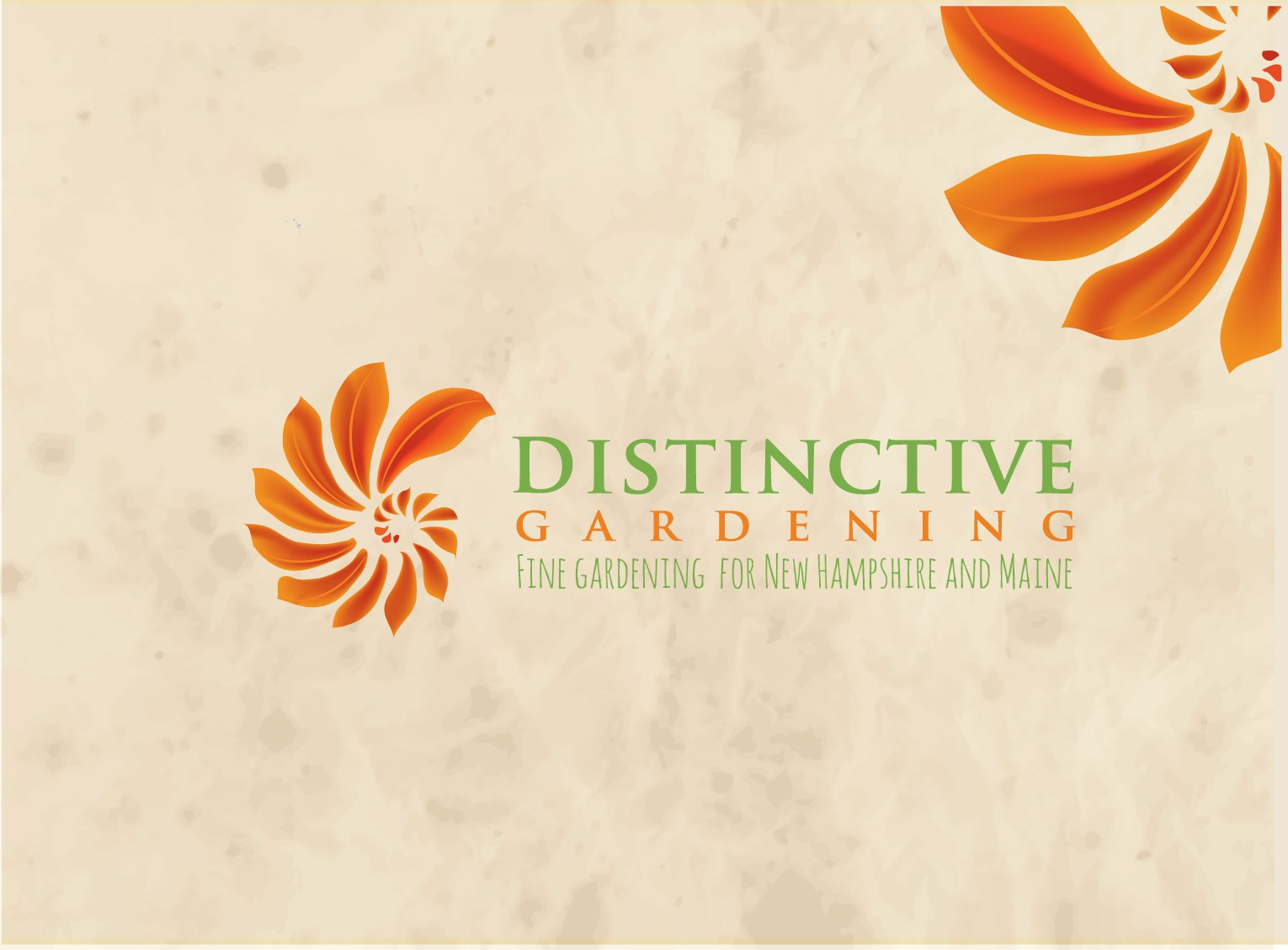 Grow us an exquisite logo and business card for Distinctive Gardening!