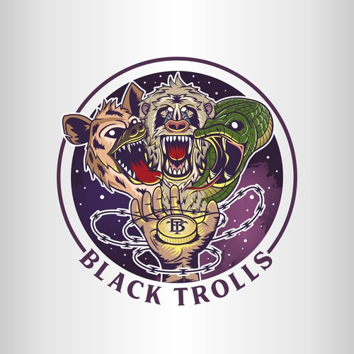 Logo illustration for Black Trolls