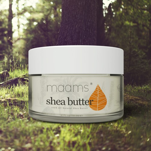 Packaging label for a 100% Natural Shea Butter company