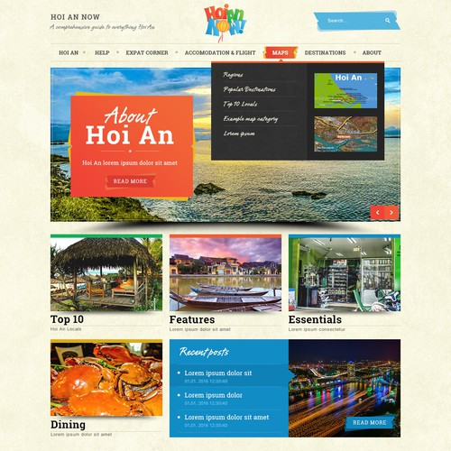 Website for travel blog
