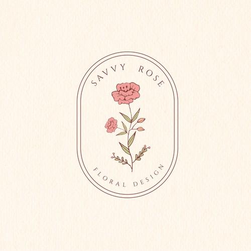 Logo concept for floral design