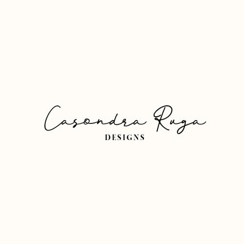 Logo design for Casondra Ruga Designs