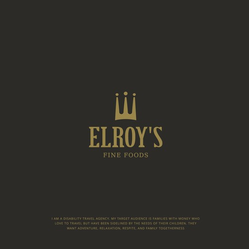 Bold Classy logo design for ELROY'S Fine Foods