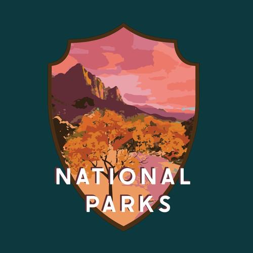 Zion National Park USA Logo
