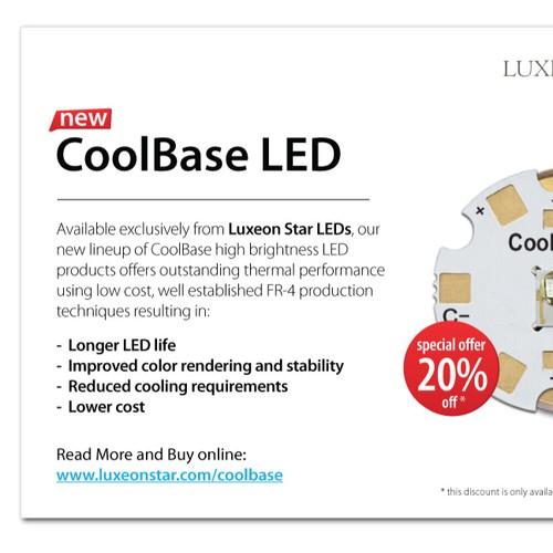 Minimalistic postcard design for Luxeon Star LEDs