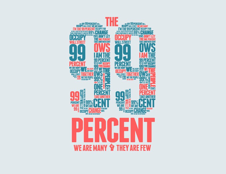 t-shirt design for The 99%