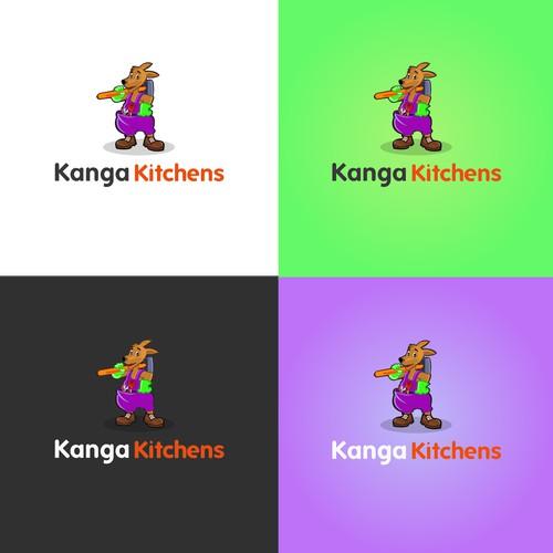 Playful logo concept for Kanga Kitchens