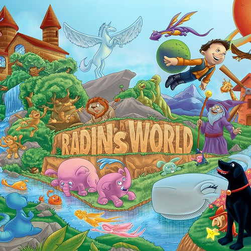 Create a Fantasy World Wallpaper for Baby's Room