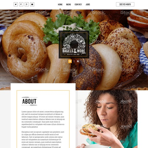 Healthy & RAWWW, new Bagel place needs trendy website!
