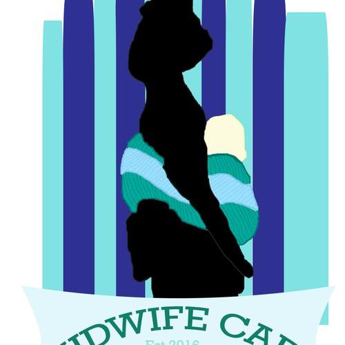 Art Deco esque Logo Design For Midwifery Education Cafe