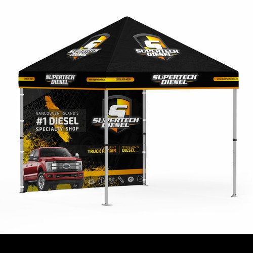 Promotional Tent Design - Diesel Performance Shop