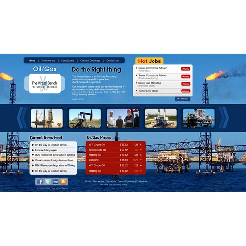 OIL/GAS Recruiting Solutions:  NEW SITE