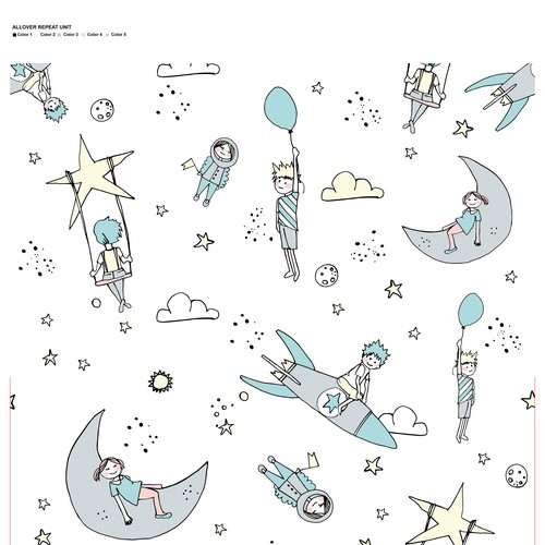 Space pattern for babies