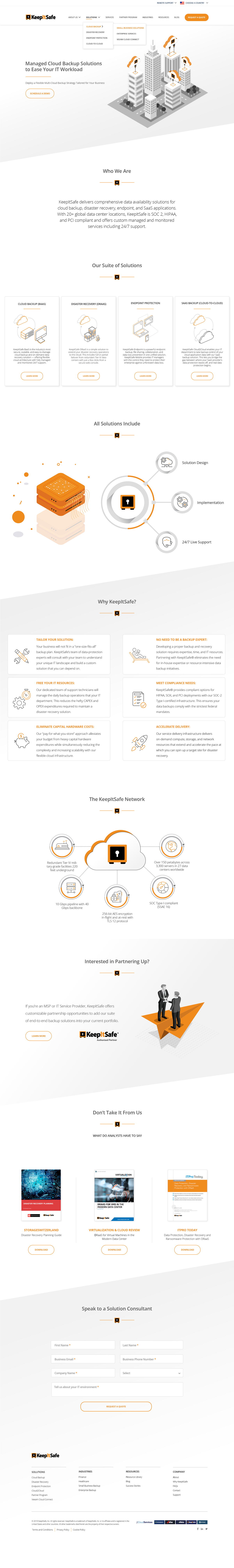 KeepItSafe Homepage Design