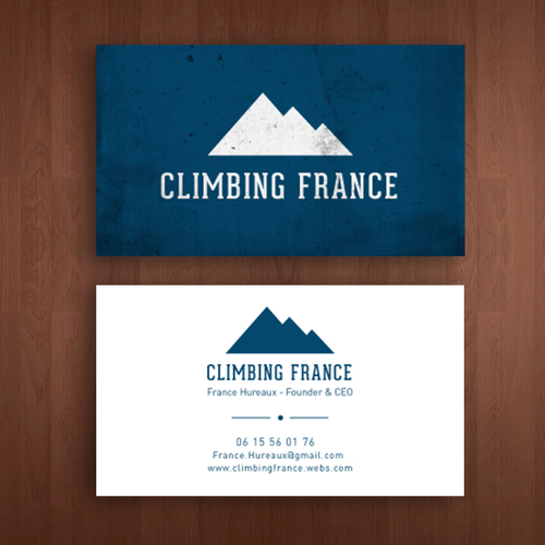 Business card Climbing France