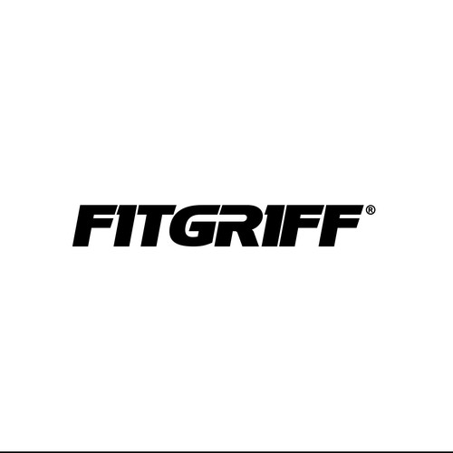 modern and bold logo text type for a fitness gear product