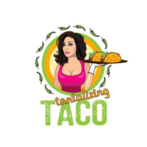 Fun Sexy Caricature Logo for Taco Burrito Company in NM