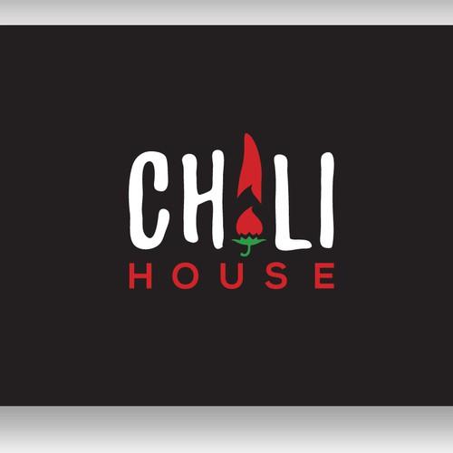 Playful logo for chili sauce